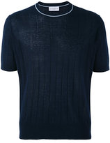 Ballantyne shortsleeved ribbed jumper - men - Silk/Linen/Flax - 50
