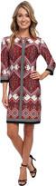Christin Michaels Bella Rosa Print Dress