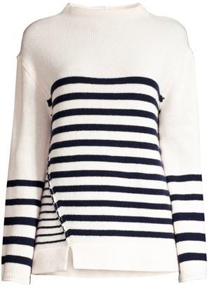 Brochu Walker Ida Striped Funnelneck Sweater