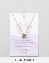 Orelia Gold Plated Crown Chakra Necklace