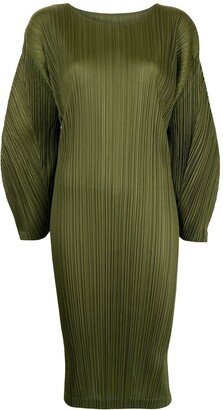 Pleats Please Issey Miyake Plisse Mid-Length Dress