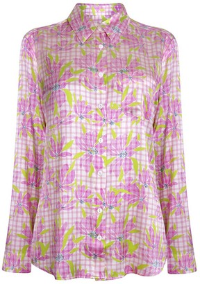 Jessica Russell Flint Long Sleeve Pyjama Top - Water The Lily