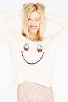 Wildfox Couture Self Serve Crewneck Sweater in Champagne