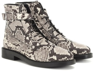 Tod's Snake-effect leather ankle boots