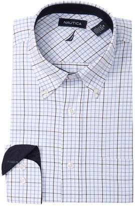 Nautica Plaid Classic Fit Dress Shirt