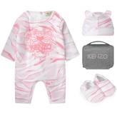 Kenzo KidsGirls Pink Tiger Romper Set (4 Piece)