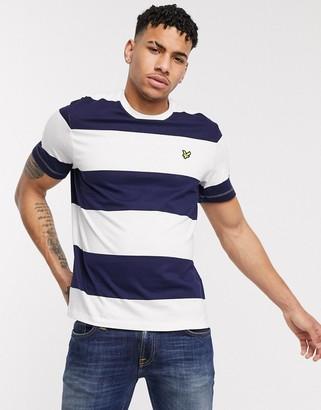 Lyle & Scott wide stripe t-shirt in navy