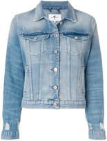 7 For All Mankind distressed denim jacket