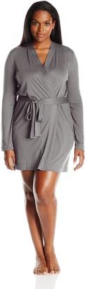 Yummie by Heather Thomson Women's Plus-Size Pima Jersey Short Robe