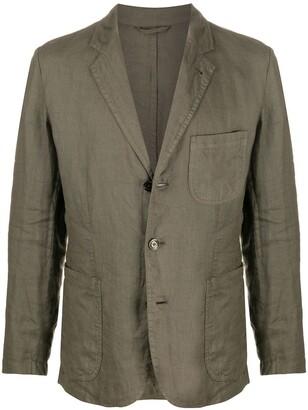 Aspesi Samuraki single-breasted linen blazer