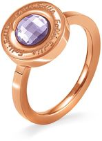 Folli Follie LOGOMANIA PURPLE RING