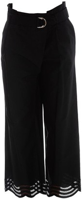 P.A.R.O.S.H. Scallop Hemmed Wrap Trousers