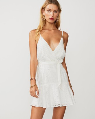 SUBOO Goldie Wrap Tie Mini Dress