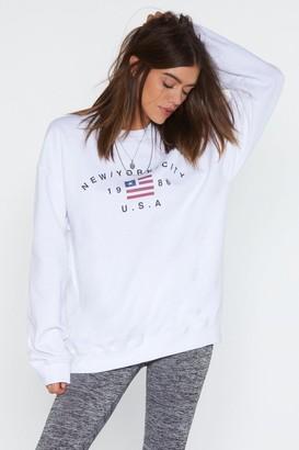 Nasty Gal Womens New York State of Mind Sweatshirt - White - S