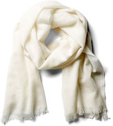 One Kings Lane Solid Lightweight Cashmere Scarf, Gesso