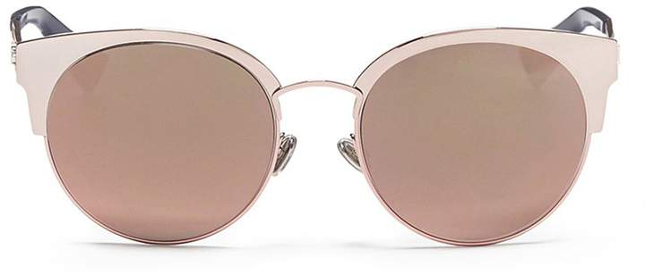 Christian Dior 'Diorama Mini' metal openwork temple browline sunglasses