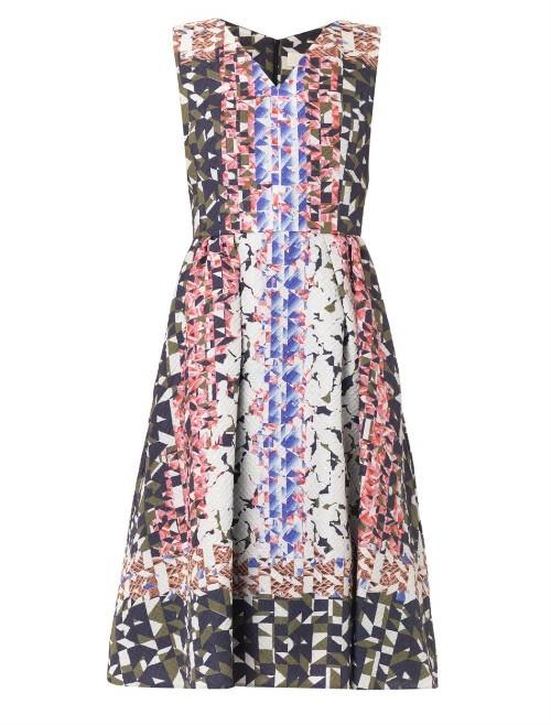 Peter Pilotto Geo-print waffle-silk dress