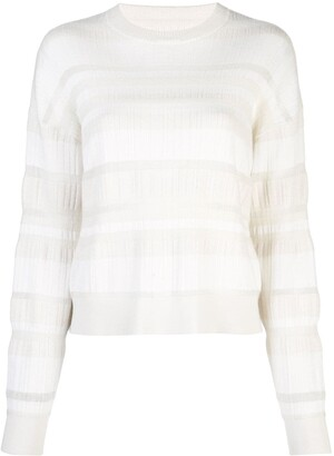 Proenza Schouler Oversized Striped Knit crew neck