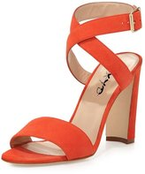 XYD Women Strappy Casual Sandals Heels New Suede Open Toe Pumps Size 12