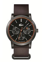Lacoste Women's 'Metro' Quartz Resin and Leather Casual Watch, Color:Brown (Model: 2010877)