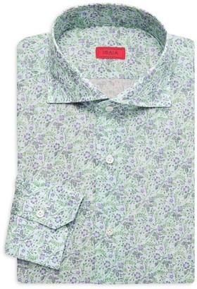 Isaia Floral Dress Shirt