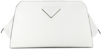 Prada City leather clutch