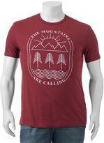 """Big & Tall SONOMA Goods for LifeTM """"The Mountains Are Calling"""" Tee"""
