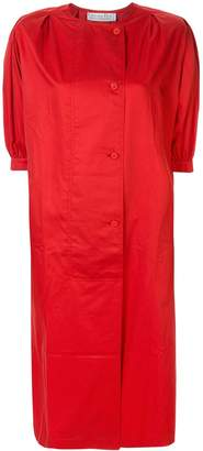Christian Dior Pre-Owned puffy three-quarter sleeves buttoned dress