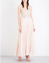 Temperley London Sequinned silk-blend dress