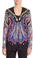 Etro Printed Silk & Cashmere Cardigan