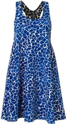 Norma Kamali reversible mosaic slip dress