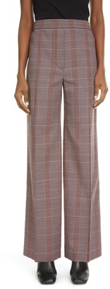 Acne Studios Paminne Check Wool Blend Suiting Trousers