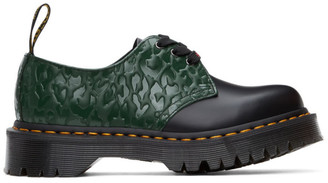 Dr. Martens Black and Green X-Girl Edition Leopard 1461 Bex Derbys