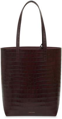Mansur Gavriel Everyday Crocodile-Embossed Tote Bag