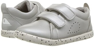 Bobux I-Walk Grass Court Trainer (Toddler) (Silver) Girl's Shoes