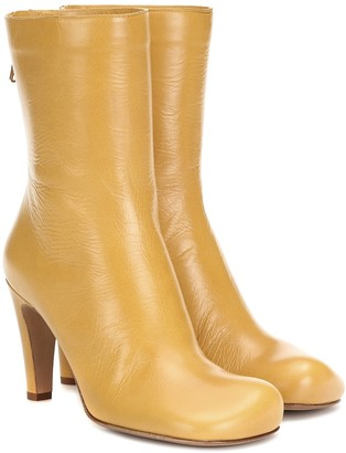 Bottega Veneta Bloc leather ankle boots