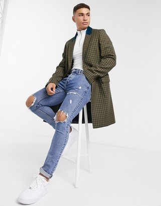 Tommy Hilfiger Collections wool contrast collar coat