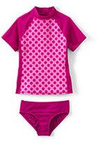 Classic Toddler Girls Rashguard Swimsuit Set-Crimson Rose