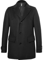 HUGO BOSS Slim-fit Wool And Cashmere-blend Overcoat With Detachable Gilet Insert - Black
