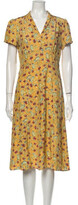 Thumbnail for your product : HVN Silk Midi Length Dress w/ Tags Orange