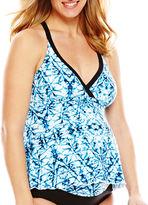 CHRISTINA MATERNITY Christina Tie-Dye Halterkini Swim Top - Maternity