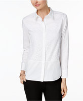 Charter Club Lace-Inset Shirt, Only at Macy's