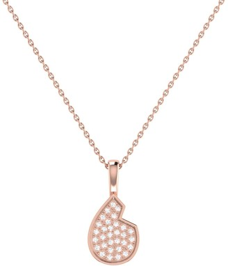Lmj Street Cycle Pendant In 14 Kt Rose Gold Vermeil On Sterling Silver