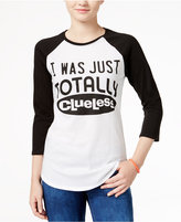 Hybrid Clueless Juniors' Graphic Raglan T-Shirt