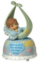 Precious Moments Precious Little Blessings Baby Boy Musical Figurine