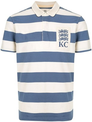 Kent & Curwen striped Peter Pan collar polo shirt