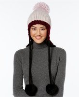 Kate Spade Chunky Knit Colorblock Trapper Hat