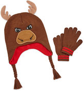Asstd National Brand Moose Hat & Glove Set - Boys 8-20