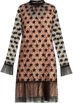No.21 NO. 21 Star-embroidered organza mini dress