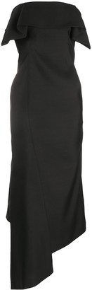 Lanvin Asymmetrical Bustier Dress
